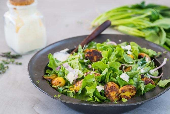Salade met Raapstelen en Aardappel